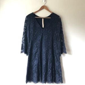 Anthropologie Bailey 44 Lace Scalloped Dress